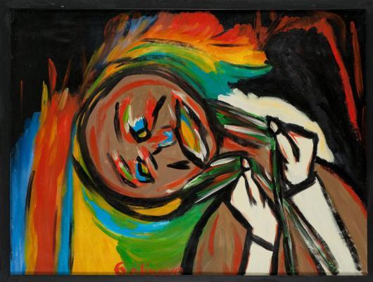 Man benutzt wohl Farben, aber man malt mit dem Gefühl